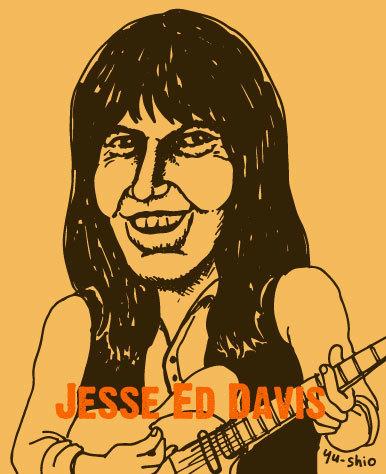 Jesse Ed Davis caricature likeness