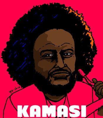 Kamasi Washington caricature likeness