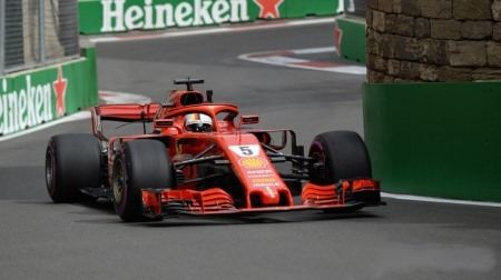 2018年F1第4戦 アゼルバイジャンGP、PPはベッテル