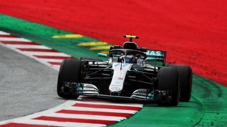 2018年F1第9戦 オーストリアGP、PPはボッタス