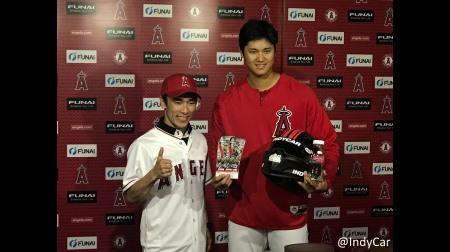 佐藤琢磨がメジャーで始球式