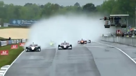 インディカー第4戦バーバー決勝が翌日に延期