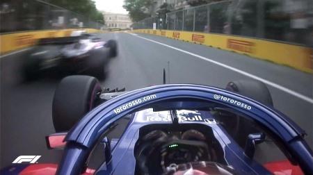 ガスリー&ハートレーがあわや大クラッシュ@F1アゼルバイジャンGP予選