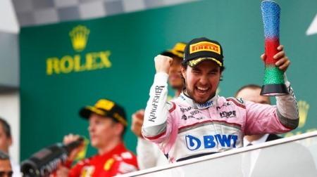 ペレス、今シーズン初入賞が表彰台@F1アゼルバイジャンGP