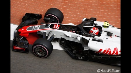 ハース、予めバージボードをパージ@F1モナコGP