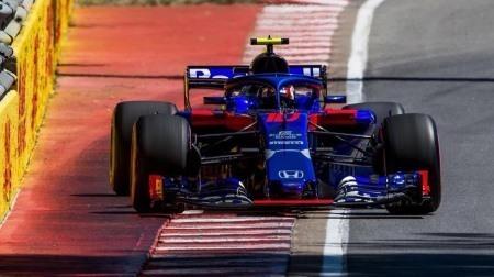 ガスリー新品のアップグレードPUに交換@F1カナダGP決勝前