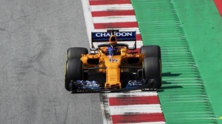 2017年型フロントウングで入賞のアロンソ@F1オーストリアGP