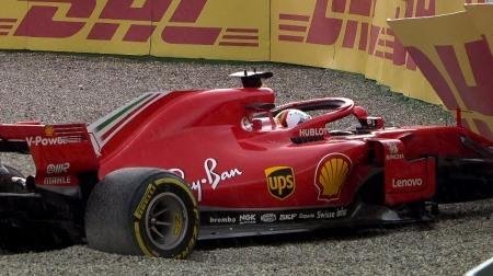 ベッテルがウェット路面で失敗@F1ドイツGP