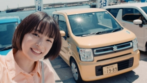 広瀬すず/ワゴンR「はじめての遠出・朝市へ」篇0014