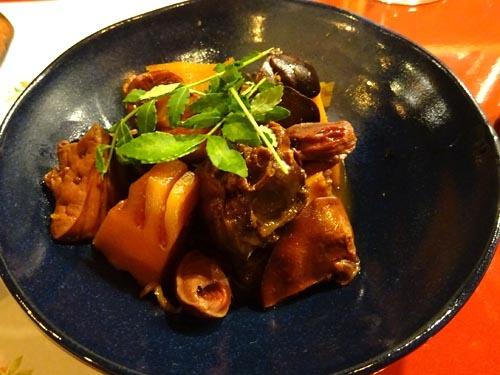 52鶏肝と竹の子煮