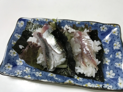 アジとゴマサバの手巻き寿司