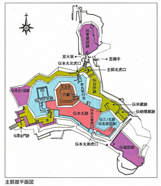 00-安土城主要部曲輪配置図