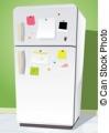 冷蔵庫-で-メモ-ベクタークリップアート_csp8454470