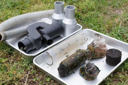雨水タンク フィルター分解清掃
