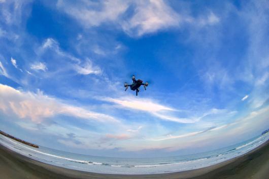 DJI Spark Fly over Boso long Beach
