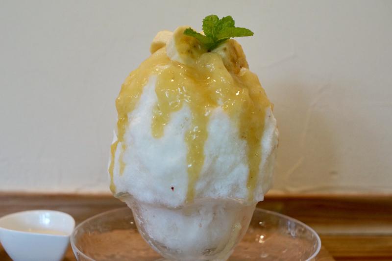 山猫 かき氷 睦沢産 無農薬バナナみるく