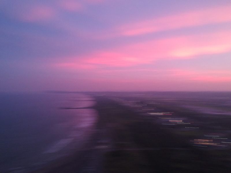 九十九里浜の夕陽