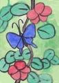 4アゲハ赤い花