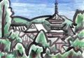 4法隆寺北から見る