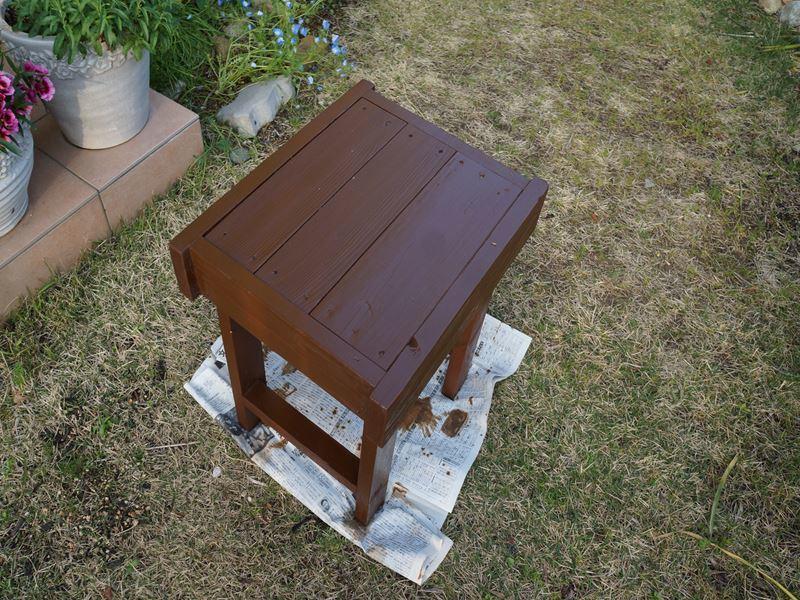 椅子の塗装
