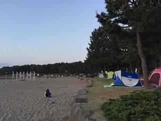 海の公園場所取り