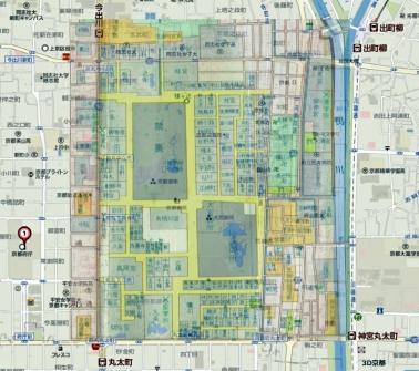 京都御苑と公家町透過(地図)04-05
