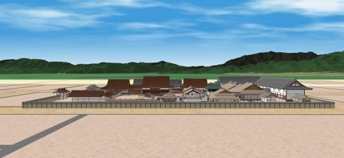 京都盆地と公家町(東から九条邸)