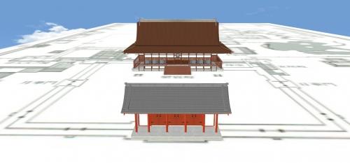 京都御所と承明門