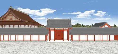 月華門と紫宸殿