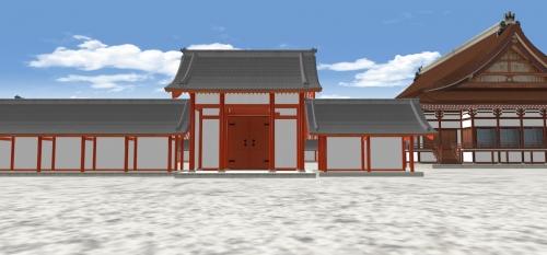 日華門と紫宸殿
