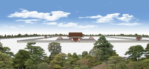 京都御所を南から望む
