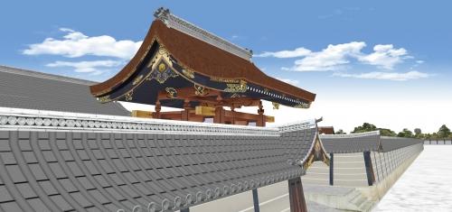 建礼門と築地塀