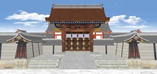 御所の正門-建礼門の正面