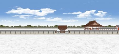 宣秋門と築地塀2