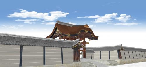 唐門と築地塀