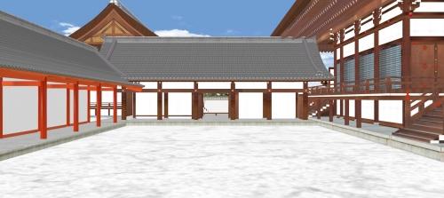 紫宸殿と左の土渡廊