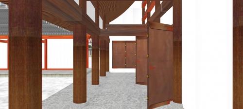 土渡り廊と南庭回廊