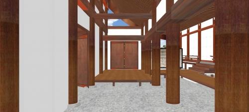 土渡り廊の内部