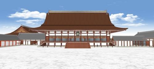 南庭から望む紫宸殿