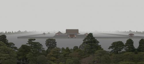霧の京都御所
