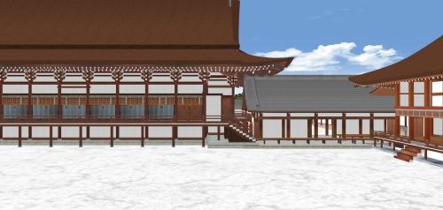 北から紫宸殿を見る-2