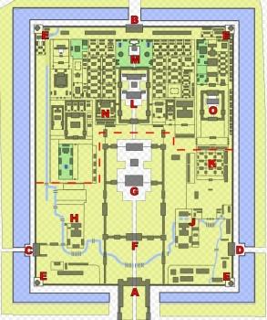 紫禁城敷地図