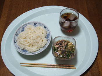 6/17 昼食 鯖ソーメン