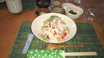 6/8 昼食 サラダ  かまくら ふじい