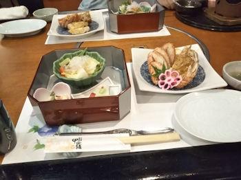 7/21 結婚記念日ランチ 前菜と毛ガニ半身  甲羅
