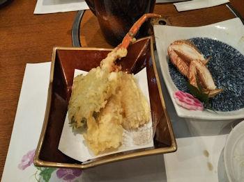 7/21 結婚記念日ランチ 天ぷら 甲羅