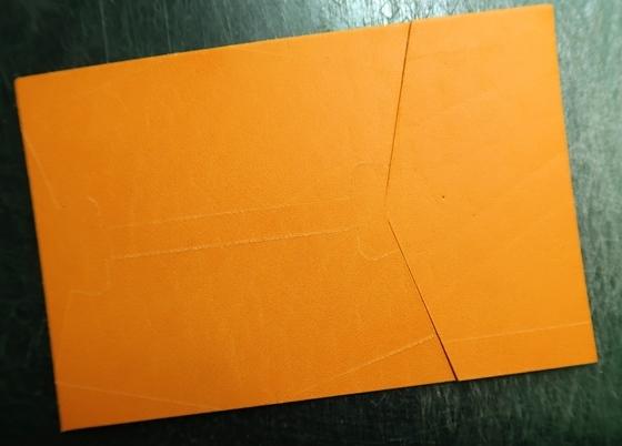 オレンジ革
