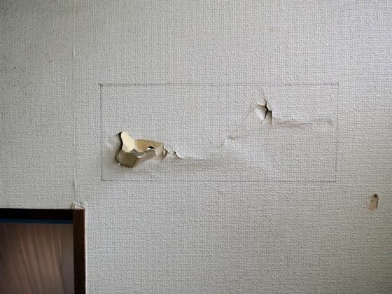 階段壁補修1