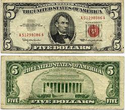 20180702ケネディ5ドル紙幣