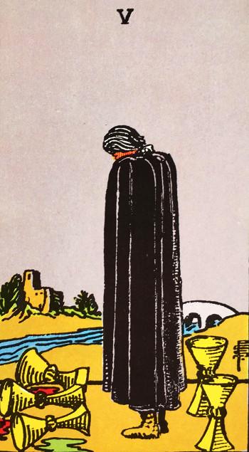 タロットカード『カップ5』 by占いとか魔術とか所蔵画像